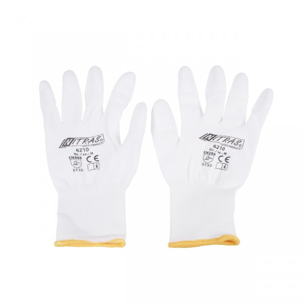 Nylon gloves white - M