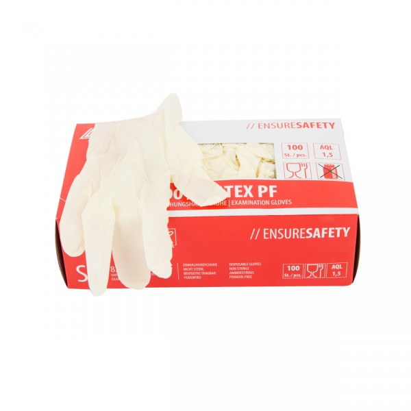 Latex gloves white - S