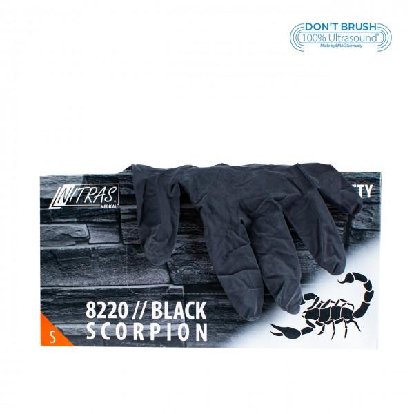 Latex gloves Black Scorpion Black S