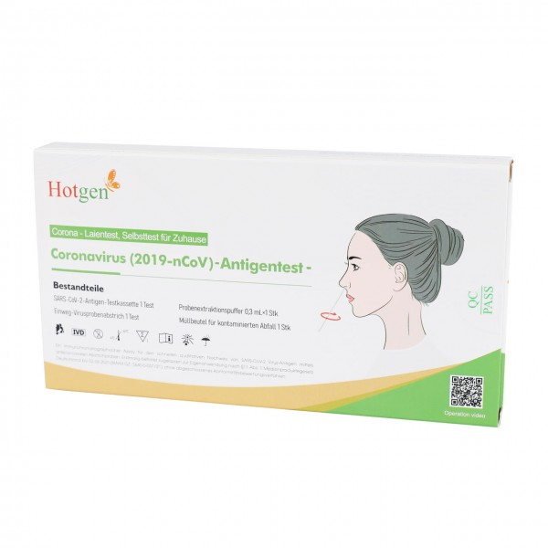 Hotgen Corona Antigen - Layman's Test, Self-Test for Home Use