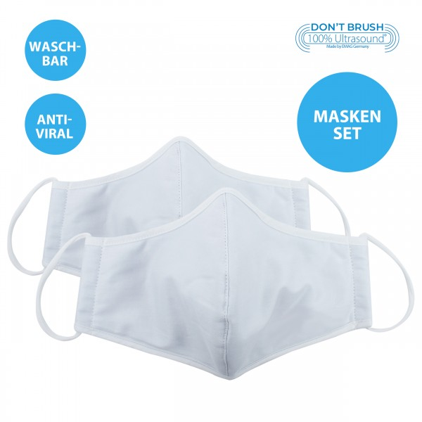 Set of 2 Oral and Nasal Mask, temporary mask with nanosilver *washable*